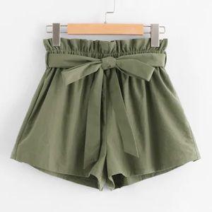 Pants - Paperbag Shorts